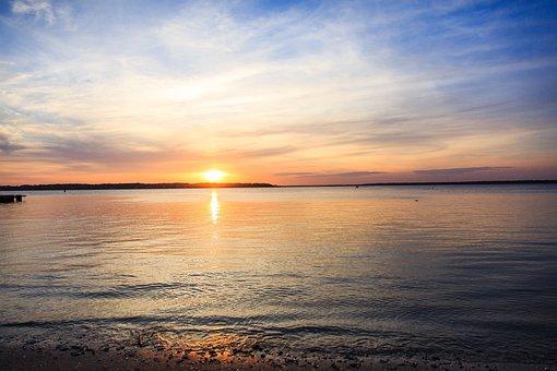 Sunset, Ocean, Beach, Hilton Head Island, Hilton Head