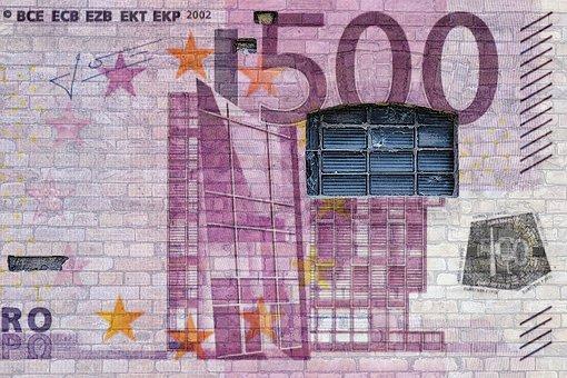Wall, Brick, Grafitti, Window, Money, Euro, Currency