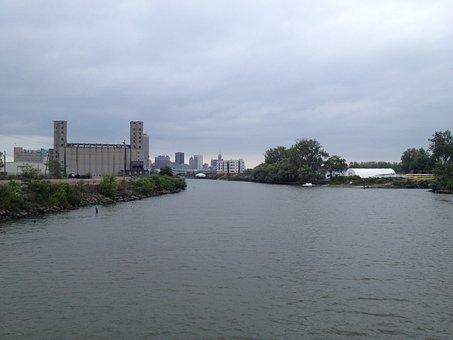 Buffalo, Grain Silos, River, Silo, Structure, Building