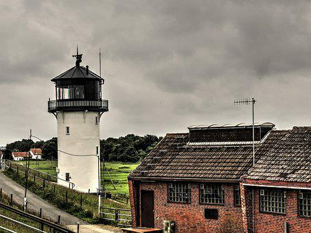 Big Bertha, Lighthouse, Tower, Cuxhaven, Elbe