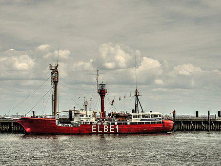 Elbe1, Lighthouse, Lightship, Vuurtorenschip, Cuxhaven