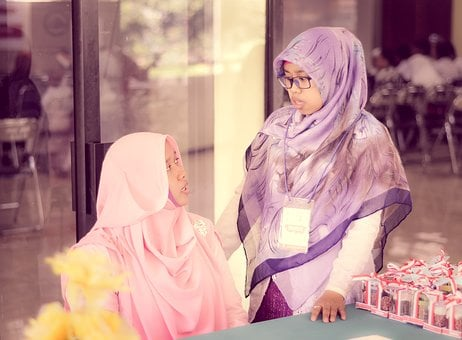 Staring, Confused, Dealing, Hijab, Indonesian