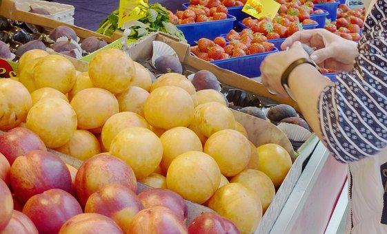 Fruit, Market, Purchasing, Vegetables, Fruits, Vitamins