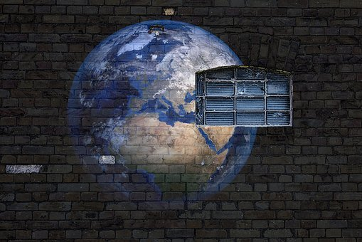 World, Wall, Brick, Grafitti, Window, Global, Travel