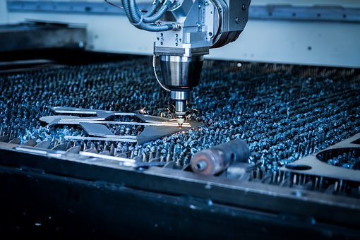 Laser, Cutting, Machine, Plasma, Sparks, Technology