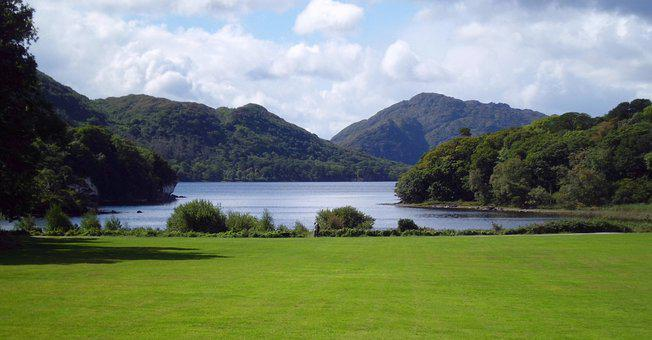 Lake, Ireland, Nature, Landscape, Mountains