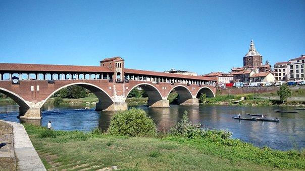 Pavia, Bridge, Ticino