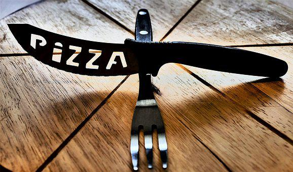 Abstract, Knife, Fork, Cutlery, Pizza Cutlery