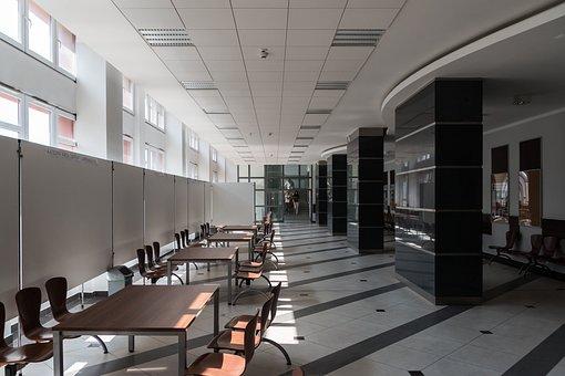 The University, School, Corridor, The Interior Of The