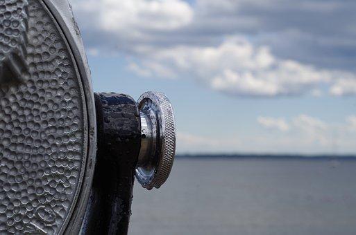 Binoculars, Binoscope, Water, Sky, Observation, Travel