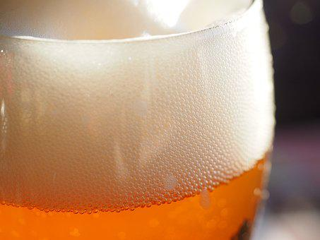 Beer Foam, Head, Beer, Wheat Beer, Beer Glass