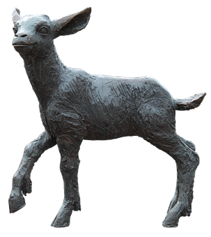 Lamb, Bronze, Sculpture, Art, Figure, Metal, Landmark