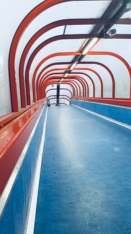 Corridor, Blue, Place, Red, Time, Transport, Tunnel