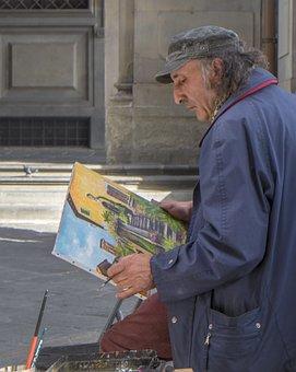 Painter, Art, Firenze, Street Artist, Dye, Creative