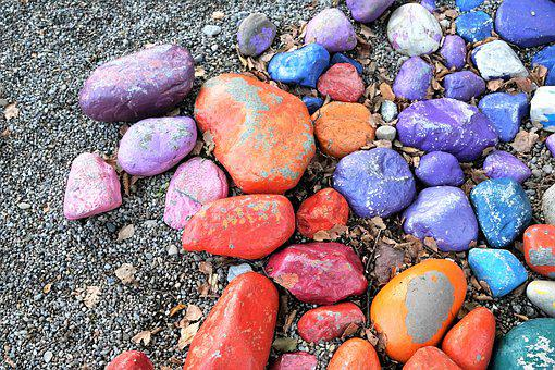 Stones, Colorful, Design, Nature, Structure