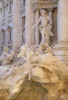 Trevi Fountain, Fountain, Rome, Art