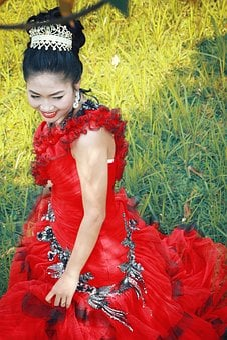 Wedding, Girl, Red, Indonesia, Bride, Dress, White