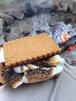 Smores, Marshmallow, Camping, Campfire, Gooey, Summer