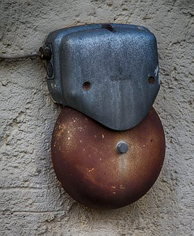 Bell, Siemens, Clamp, Old, Outdoor, Metal, Ring