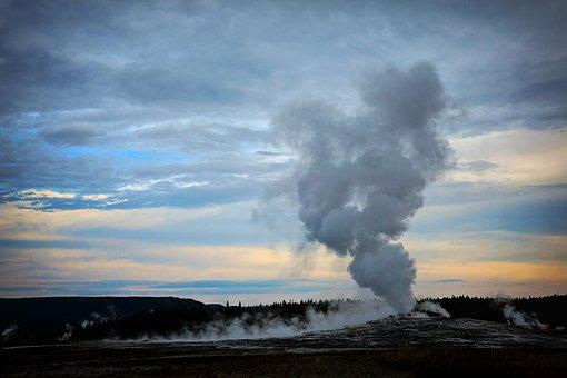 Old Faithful, Yellowstone, National, Park, Old