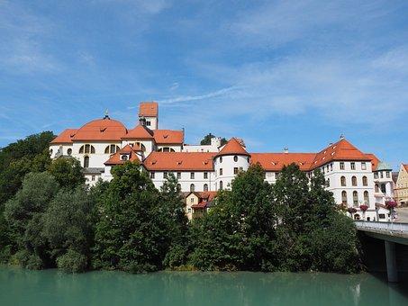 St Mang's Abbey, Füssen, Lech, River, Monastery