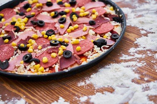 Flour, Pizza, Sausage, Salam, Egypt, Bacon, Nutrition