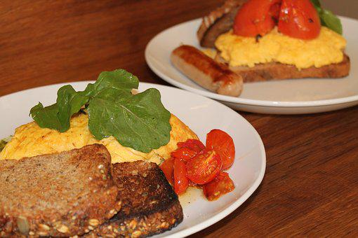 Food, Scrambled Egg, Grilled Tomato, Toasted Sandwich