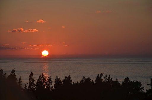 Sunset, Summer, Sea, Zambrone, Italy
