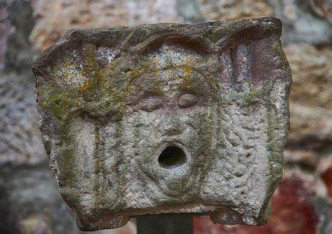 Lion, Lion Head, Sand Stone, Steinmetz, Carved, Old