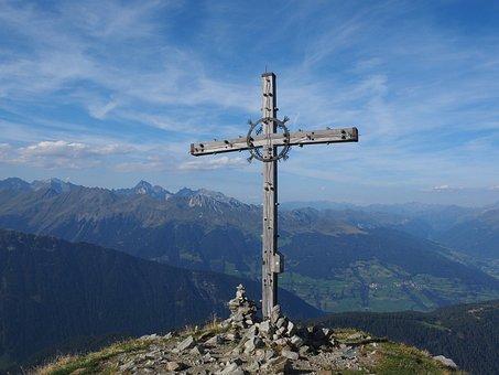 Jaufenspitze, Summit Cross, Cross, Mountains, View