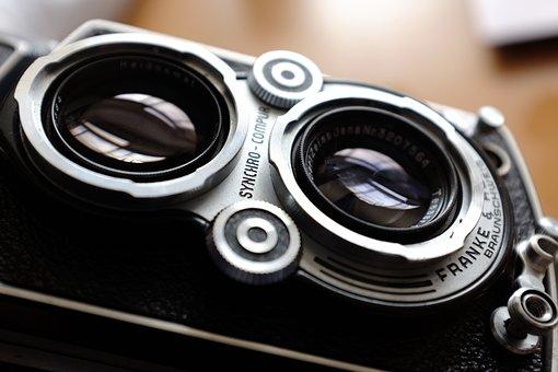 Camera, Lenses, Target, Analog Photography, Vintage