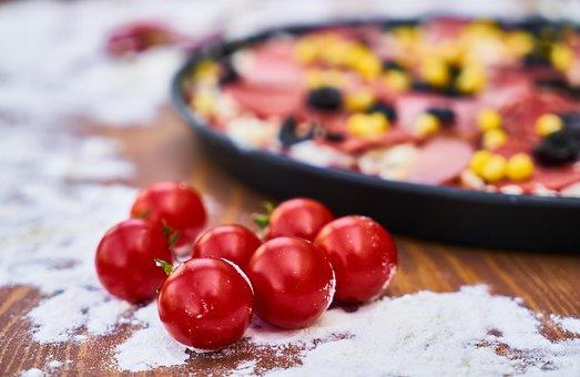 Tomato, Flour, Pizza, Sausage, Salam, Egypt, Bacon