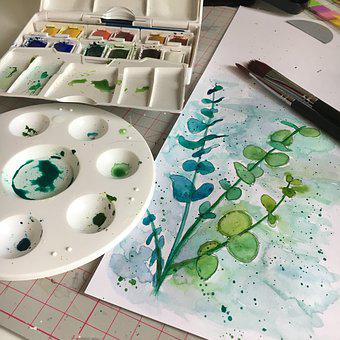 Watercolor, Palette, Painting