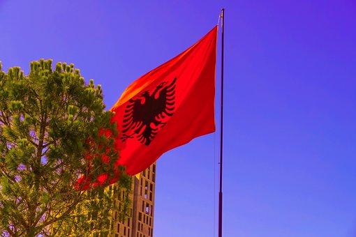 Albanian, Flag, Tirana