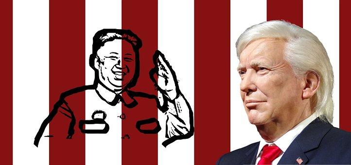 Trump, President, Kim, Korea, North Korea, Usa, America