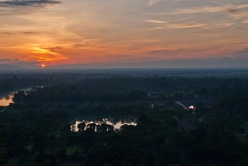 Angkor Wat, Temple Complex, Sunset, Cambodia, Siam
