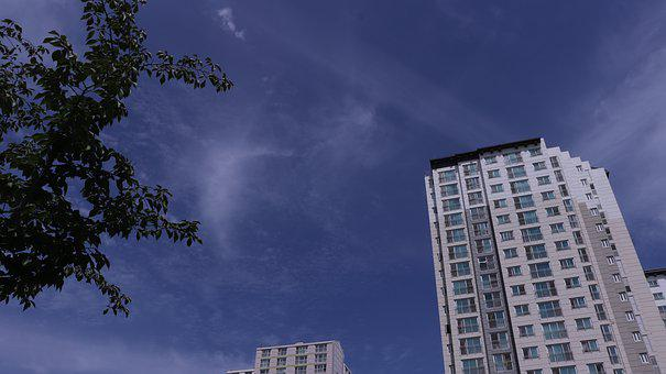 Sky, Clouds, Cloud, Building, Buildings, Tree, Trees