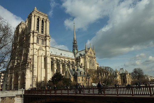 Notre-dame, Paris, Cathedral, France, Church, Monument