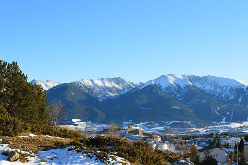 Mountain, Pyrénées, Snow, France, Landscape, Winter