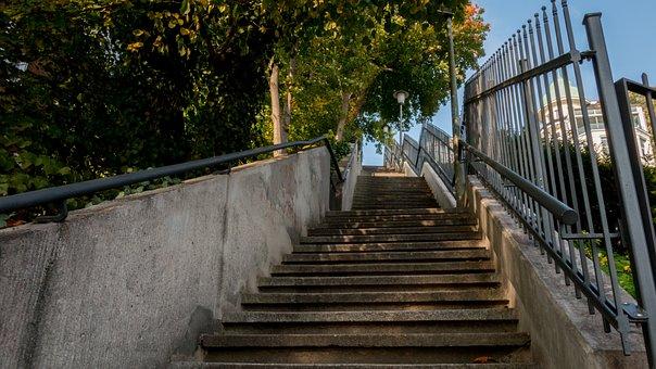 Stairs, Hamburg, Hanseatic City, Architecture