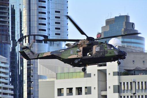 Australia, Brisbane, Queensland, Sky, Navy, Helicopter