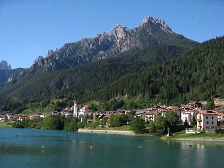 Auronzo Di Cadore, Lake, Dolomites, Cadore, Mountain