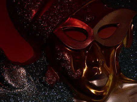 Mask, Face, Decor, On, The Wall, Color