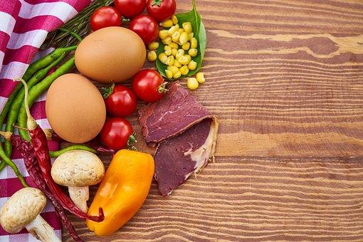 Egg, Mushroom, Mushrooms, Egypt, Onion, Pepper, Yellow