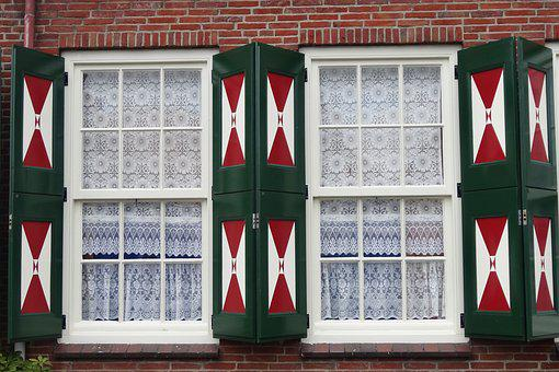 Window, Pane, Shutters Open, Facade, Wood