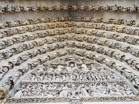 Vault, Cathedral, Door, Architecture, France, Religion
