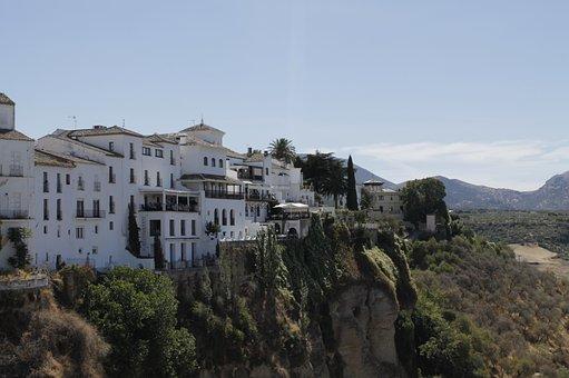 Andalusia, Ronda, Rock Town, Gorge, White Houses