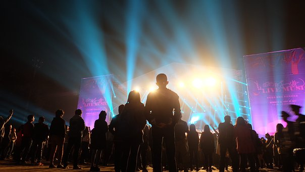Concert, Stage, Light, Silhouette