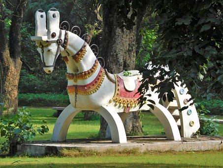 Horse, Sculpture, Statue, Architecture, Park, Out Door