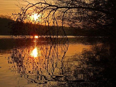 Sunset, Pond, Nature, Twilight, Summer, Landscape, Wild